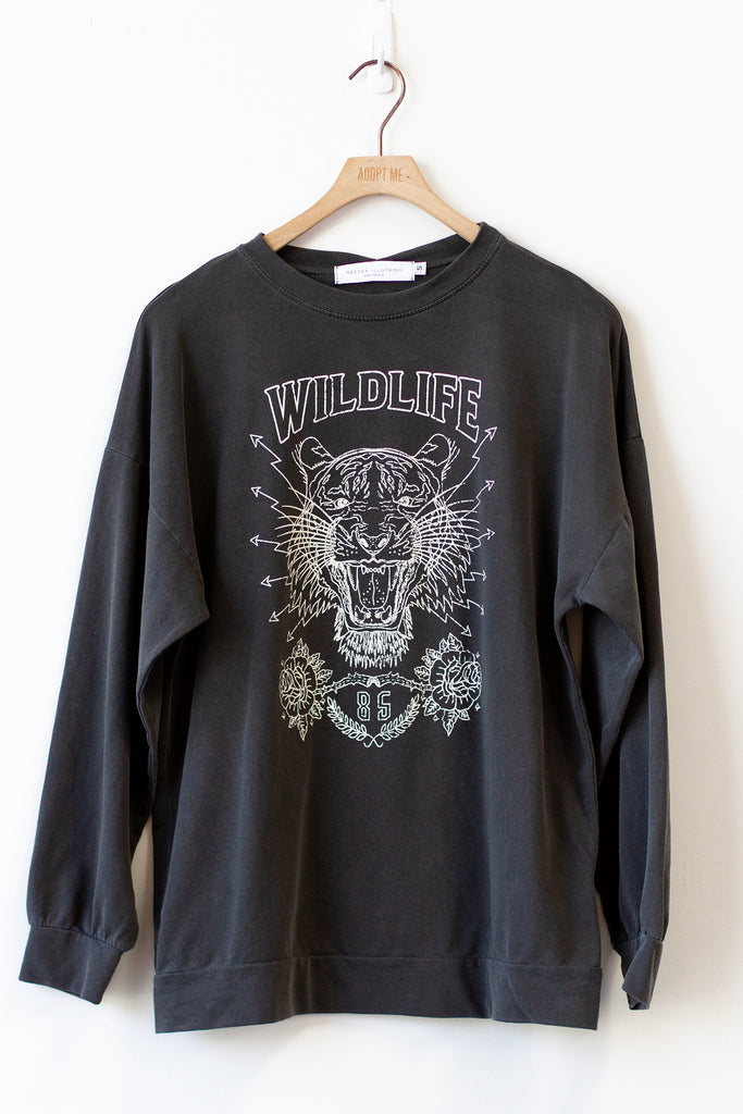 The Wildlife Graphic Long Sleeve Top