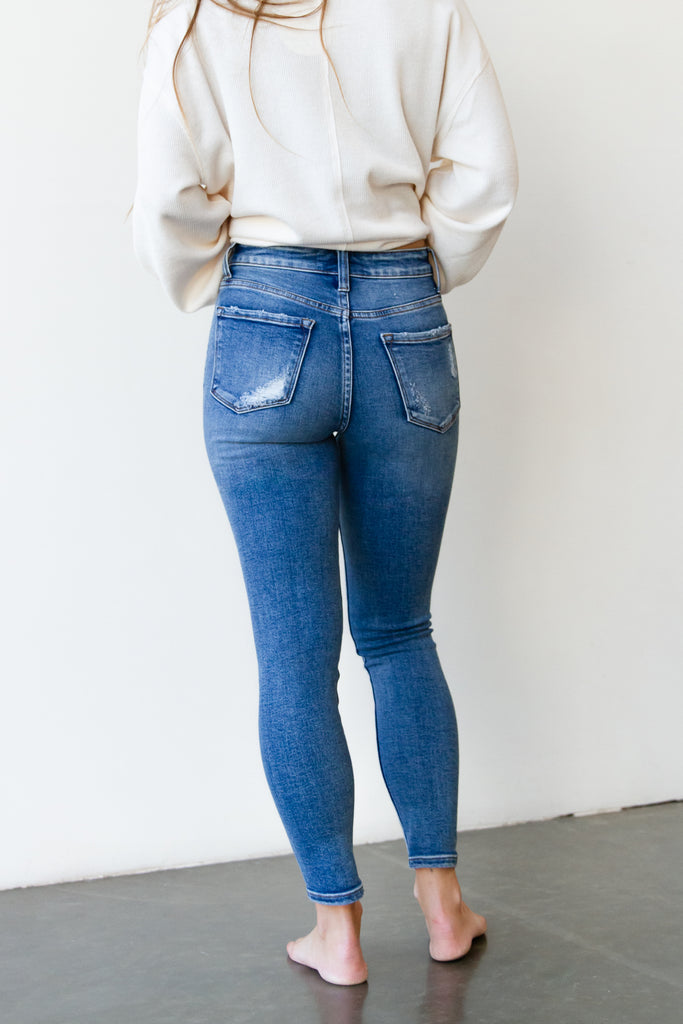 The Olivine High Rise Crop Skinny Jeans By Nectar Premium Denim