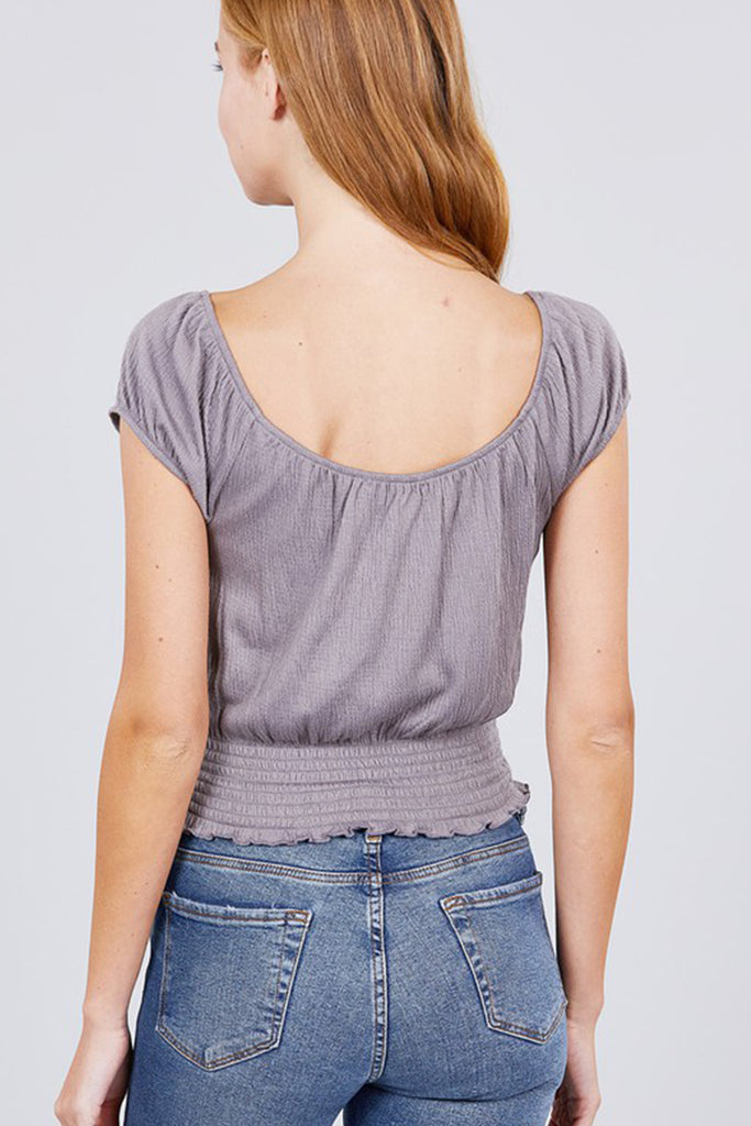 Loveliest Of All Short Sleeve Top