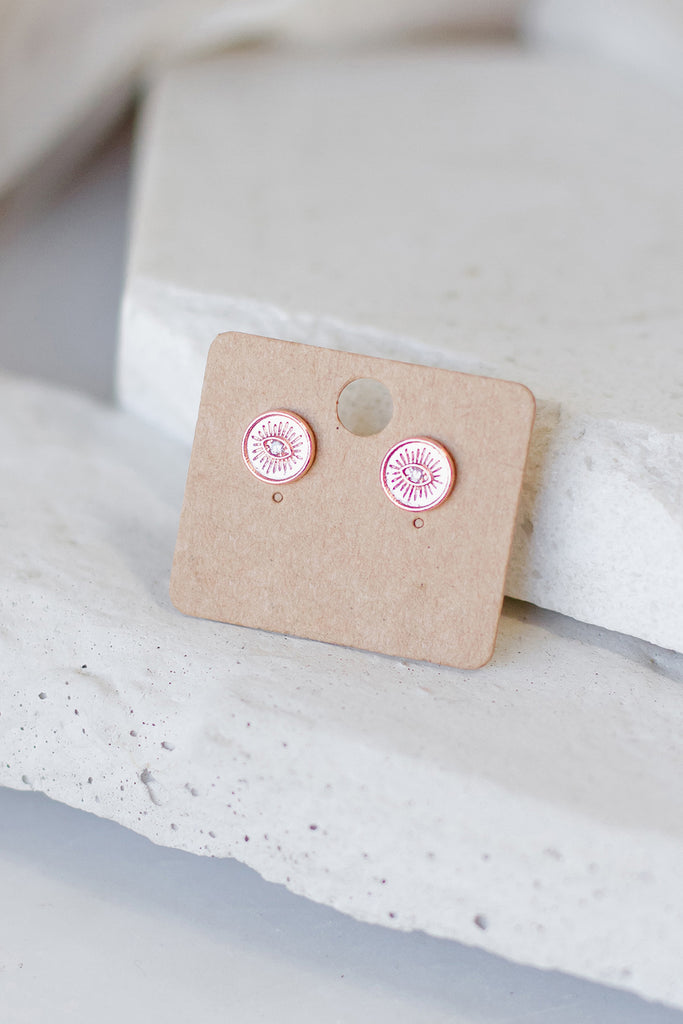 Rose Gold Eyes Earrings