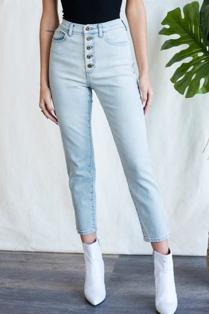 Light wash High Rise Denim Jeans