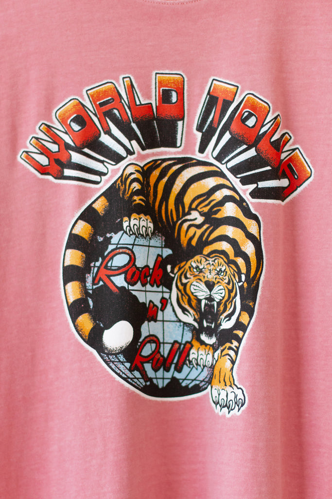 pink world tour graphic tee