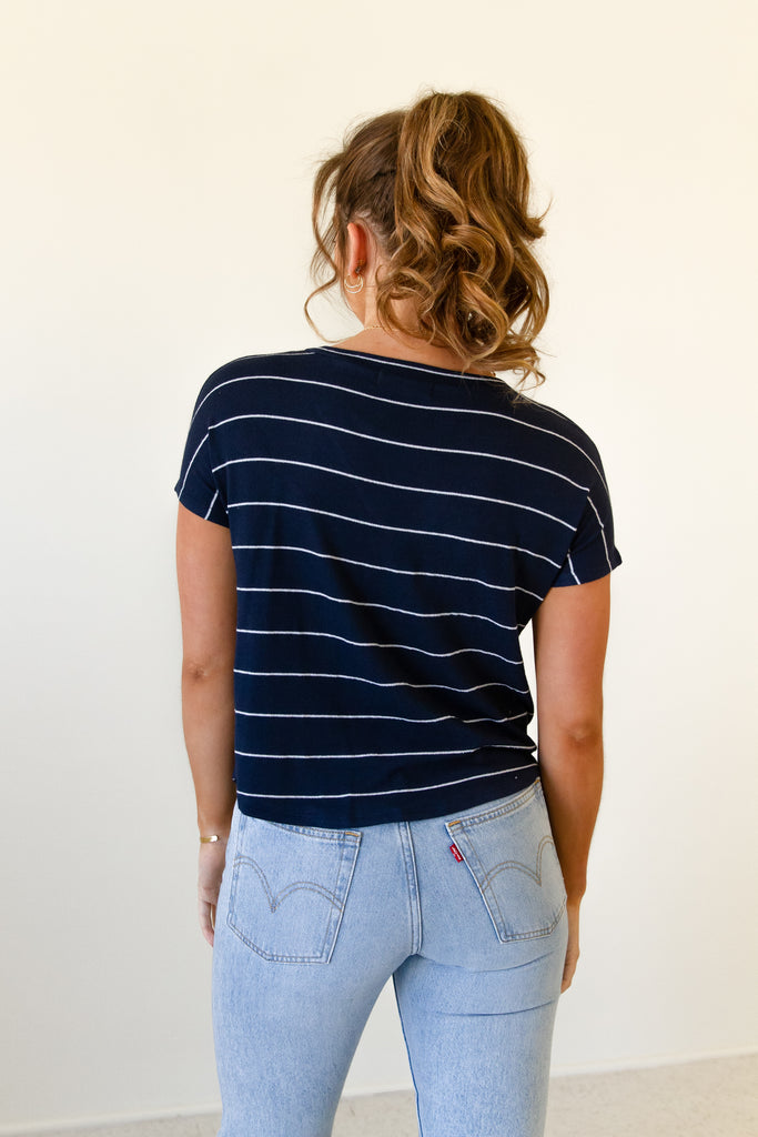 Aim High Striped Top by For Good