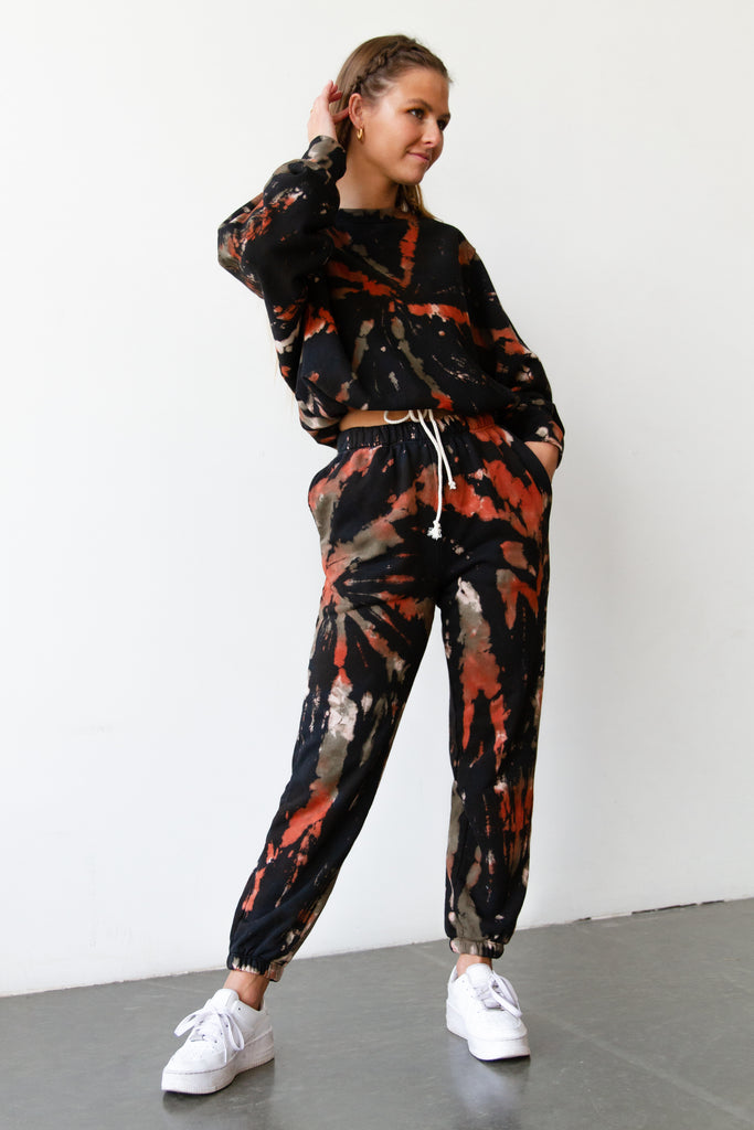 Look This Way Tie Dye Jogger Pants by For Good