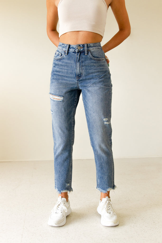 The Lilia High Rise Mom Jeans by Nectar Premium Denim