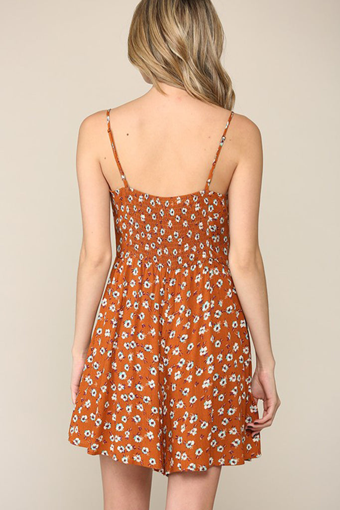 Please Don't Go Floral Romper