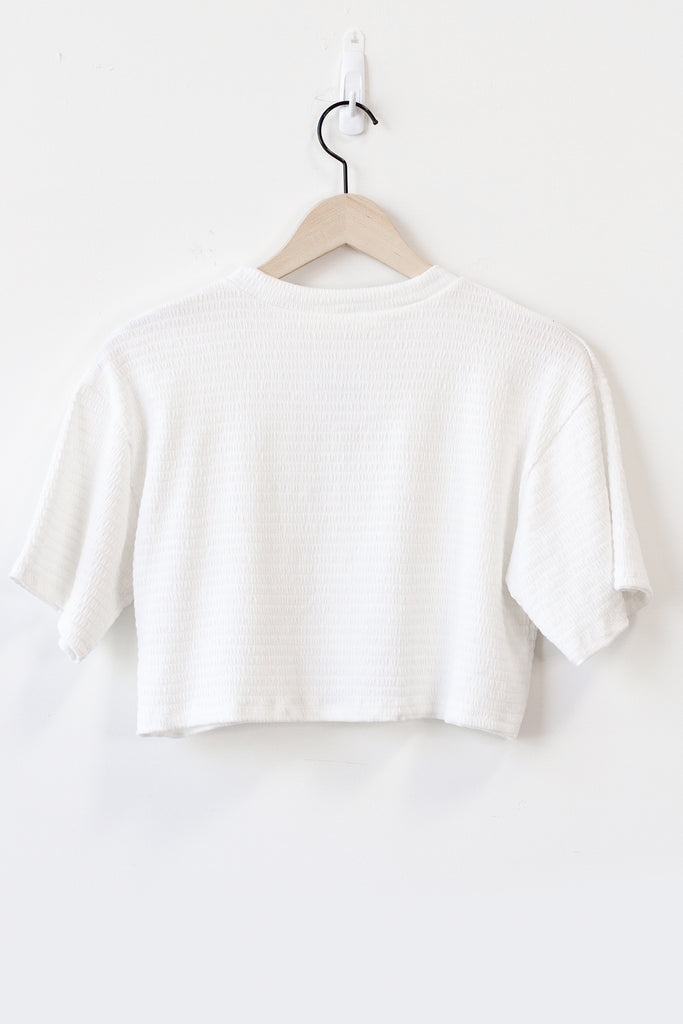 You & I Smocked Crop Top