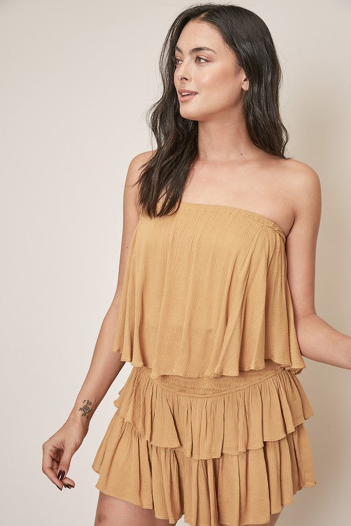 Key To The City Strapless Romper