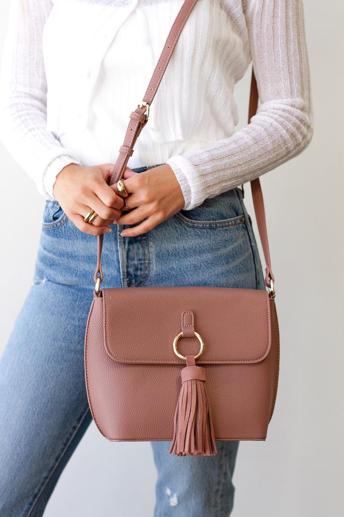 Mauve Crossbody Purse