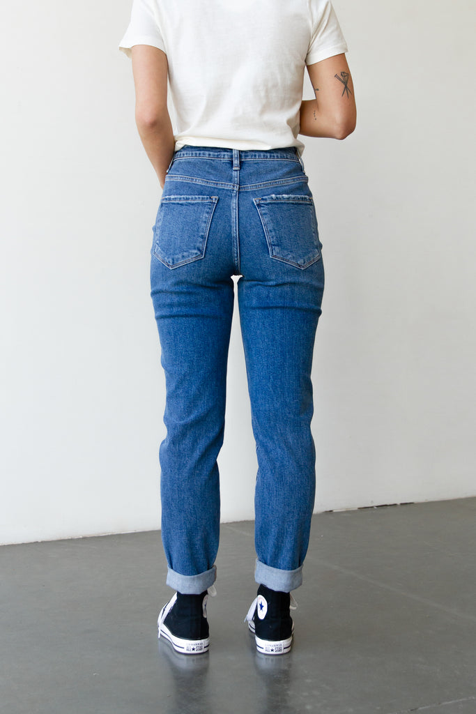 The Lilia Stretch Mom Jeans By Nectar Premium Denim