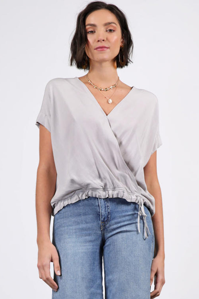 Front & Center Surplice Top by For Good