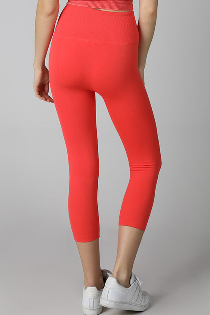 Red Capri Leggings