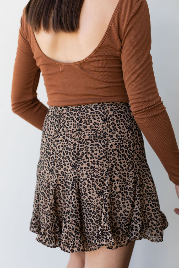 No Limits Animal Print Skirt