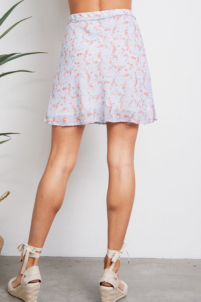 Keep On Loving You Swiss Dot Floral Skirt
