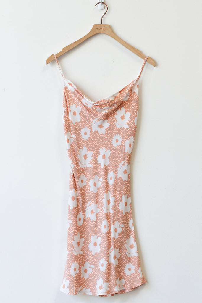 natural/white floral dress