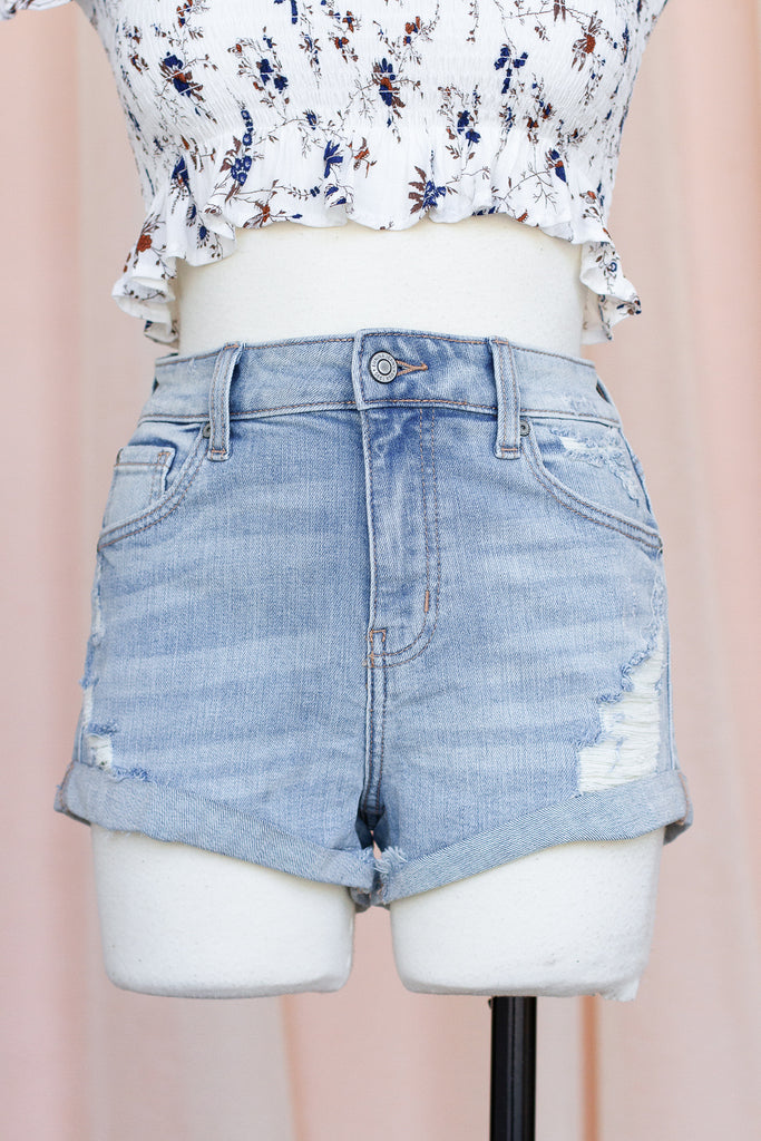 With You All The Time Denim Shorts