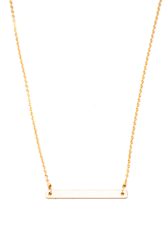 gold petite bar necklace