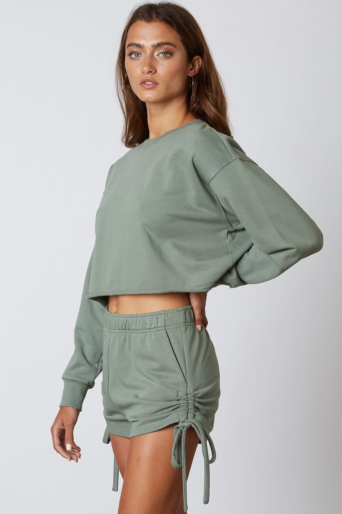 Cozy Here Fabric Shorts