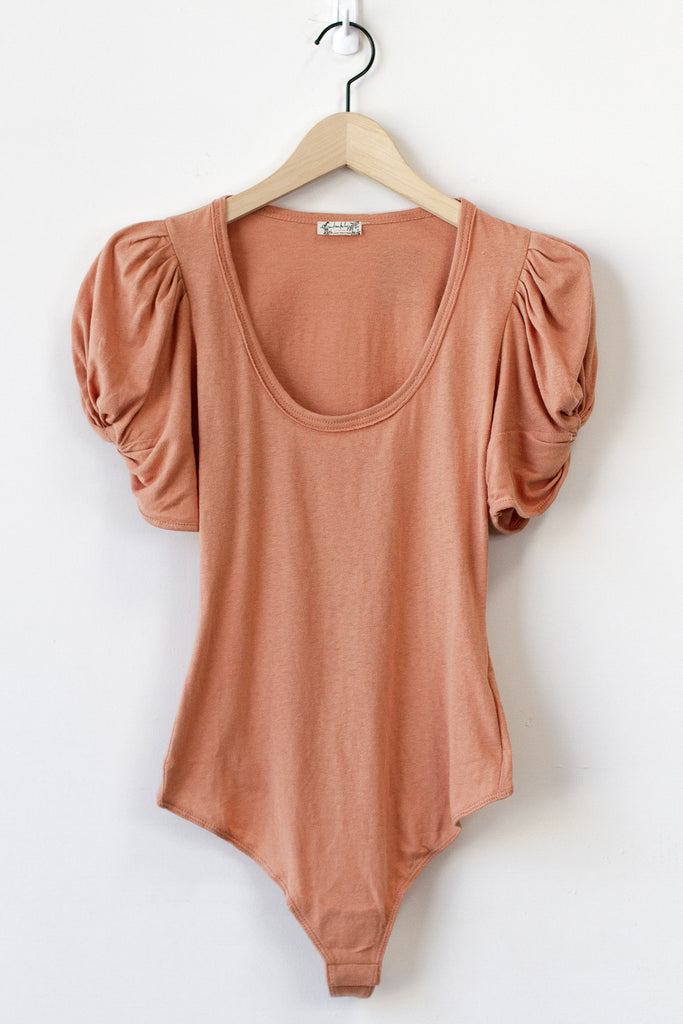 Think I'm In Love Puff Sleeve Bodysuit by Free People