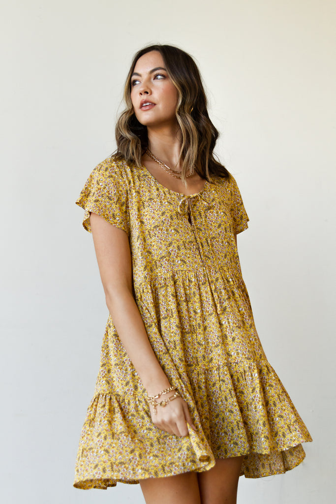 yellow/white floral dress