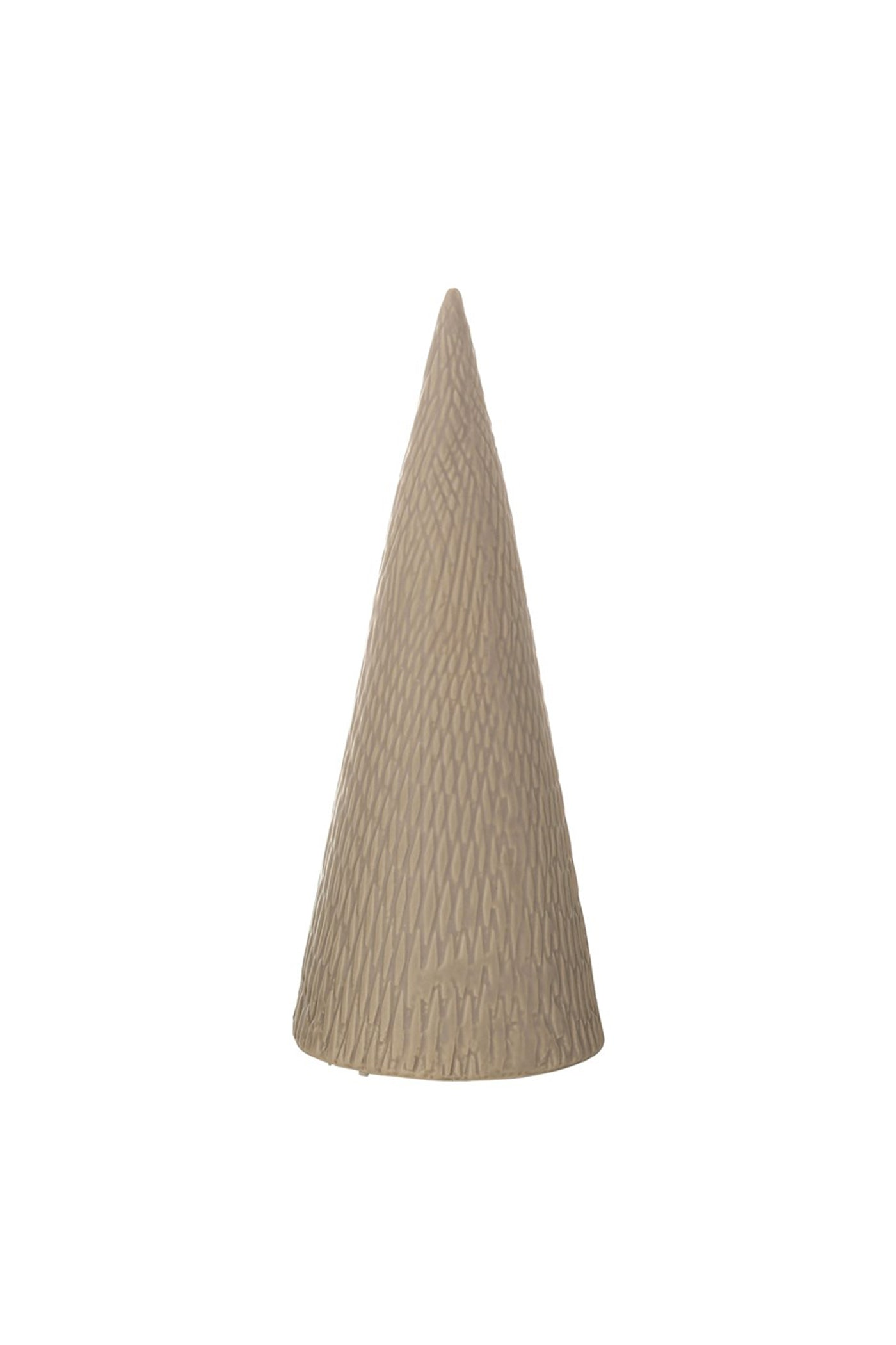 Large Taupe Stoneware Christmas Tree by For Good