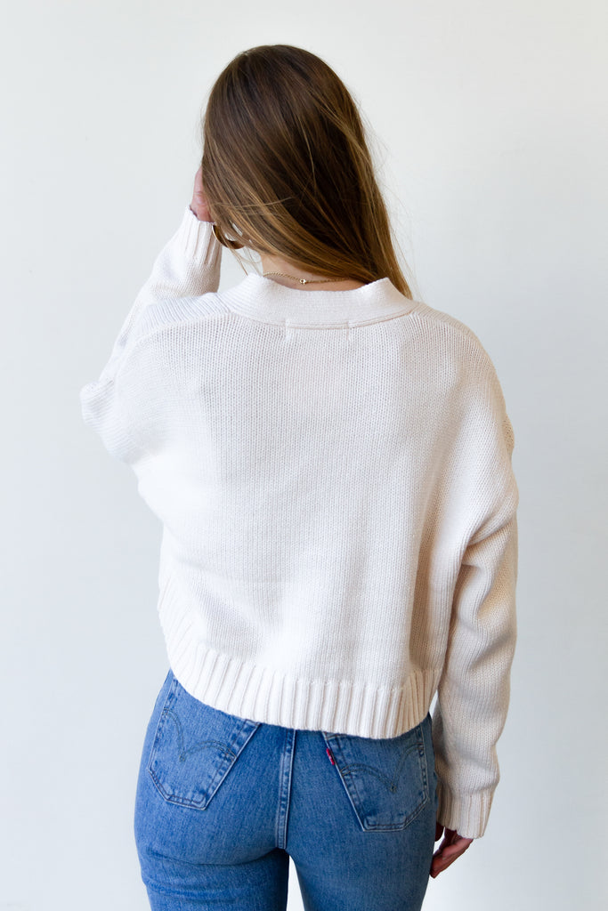 knit cardigan with front pockets