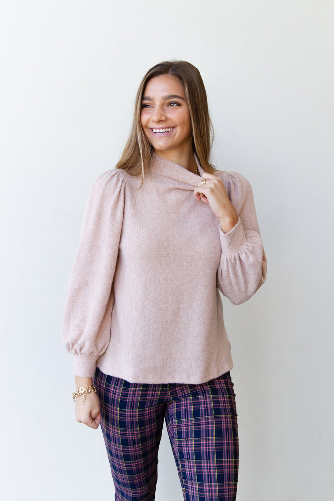 Shallow Ballon Sleeve Top By For Good