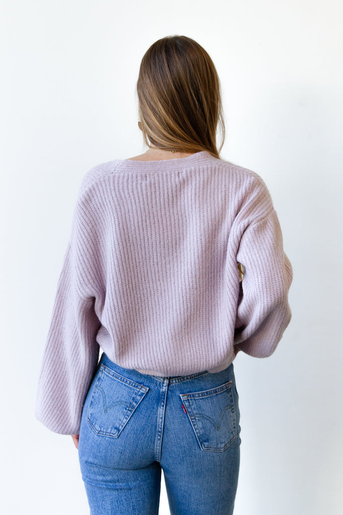 Records On Knit Cardigan