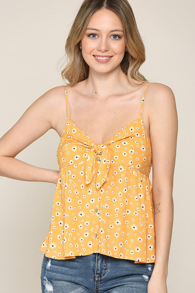 Heat Of The Summer Floral Cami Top