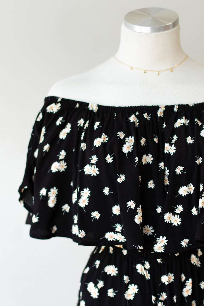No One Compares Floral OTS Jumpsuit