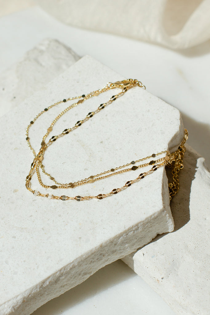Three Piece Anklet Set