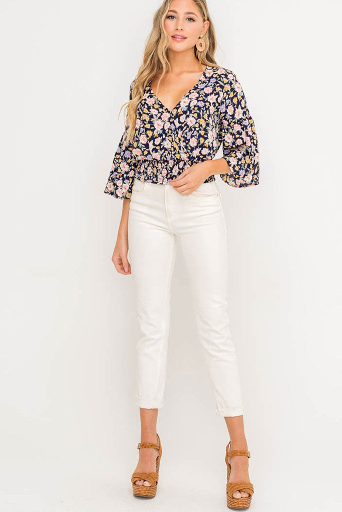 Blank Space Floral Top by For Good
