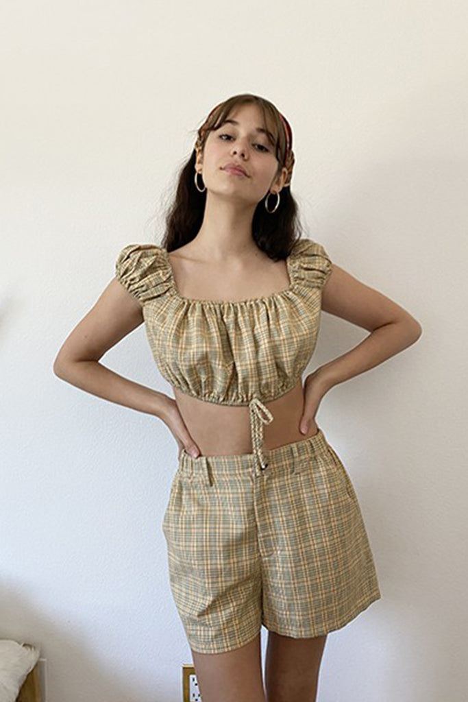 Picnic Party Plaid Crop Top