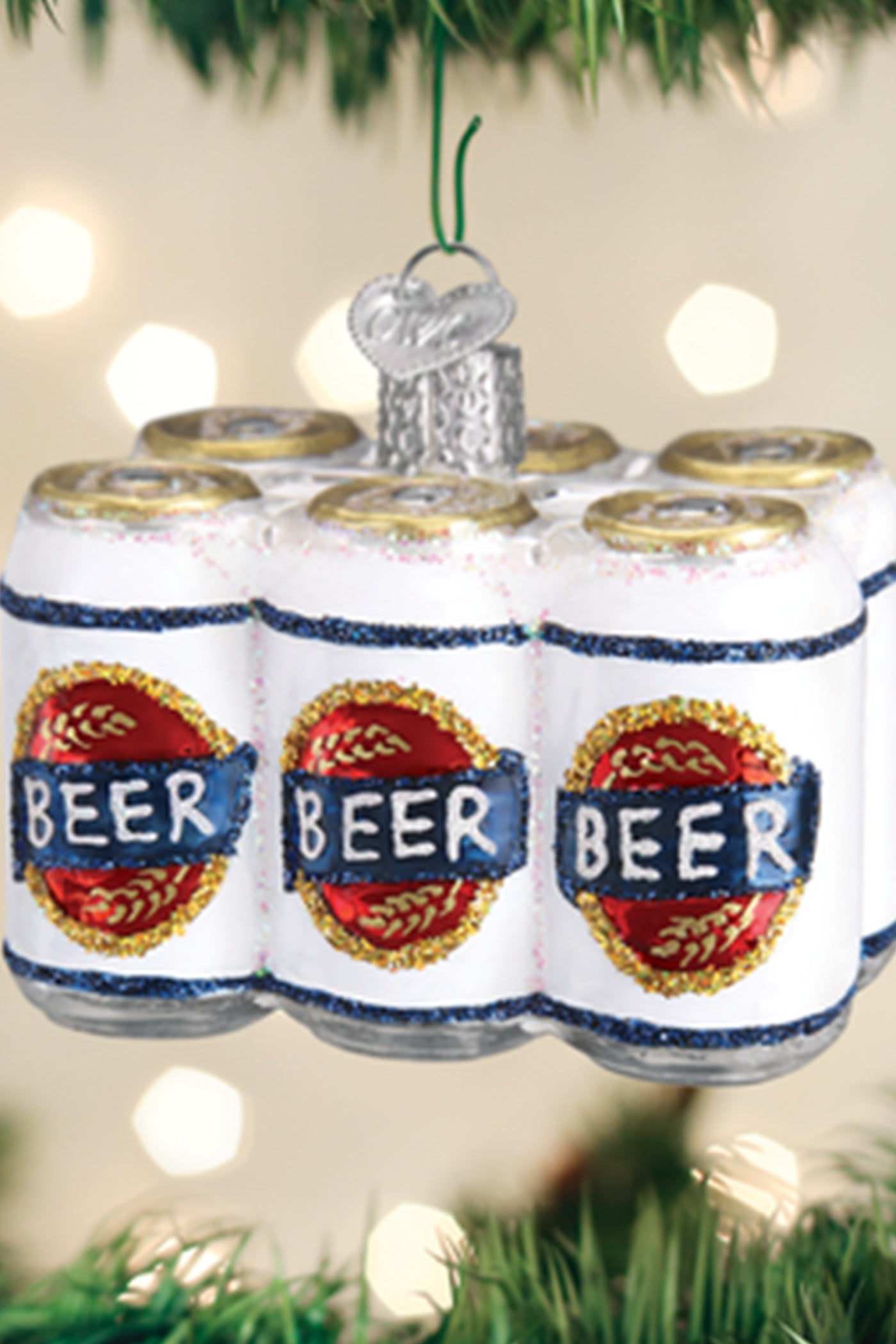 Six Pack Ornament by For Good