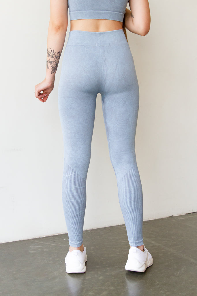 baby blue full leggings