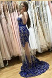 Fabulous Sweetheart Strapless Floor-Length Sheath Prom Dresses uk with Lace Pearls Sash PM763