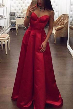 Spaghetti Straps High Low Red A-line Plus Size Women Dresses,Simple Cheap Prom Dresses uk PM738