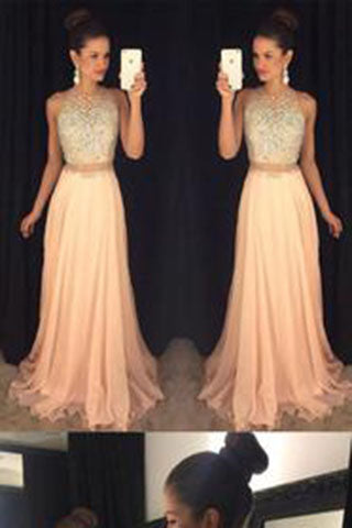 911574a90a8 Blush 2 pieces Chiffon Sexy dresses for prom