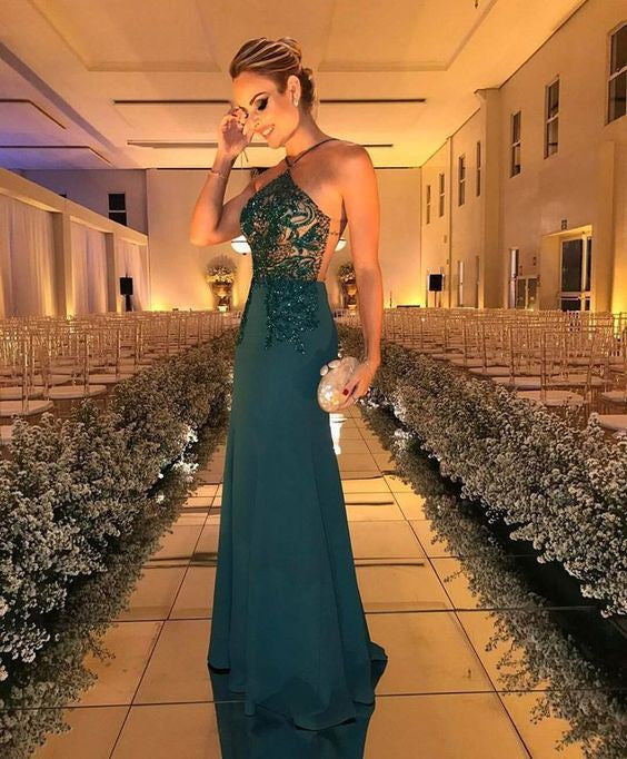 Halter Beaded Evening Dress,Fashion Prom Dress,Sexy Custom Made Prom Dresses uk PM606