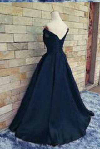 ball gown off the shoulder red satin fitted corset prom