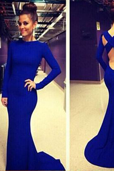 White and Royal Blue Prom Dresses