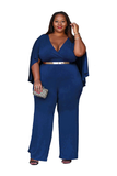 V-neck Plus Size Formal Jumpsuit FP6020