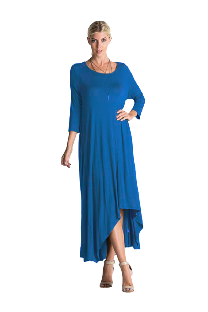 Round Neck Long Casual Dress FP6006