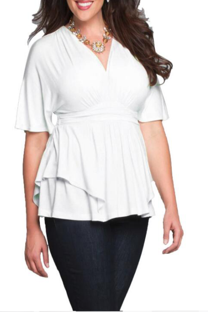 Fashionable V-neck Shirt Formal Shirt   FP3117