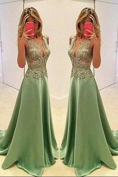 Sexy Appliques Prom Dresses,Long Evening Dresses,Prom Dresses On Sale, T189