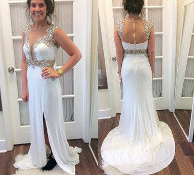 Charming Real Made Beading Prom Dresses,Long Evening Dresses,Prom Dresses On Sale,L22
