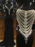 Mermaid Black Long Charming Evening Dress,Formal Women Dress,Prom Dresses uk PH97