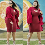 Burgundy Mermaid V Neck Long Sleeve Simple Prom Dresses FP2505