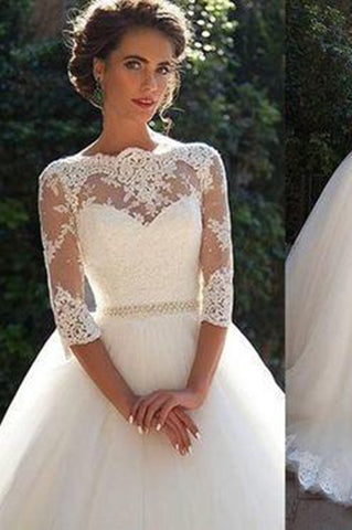 Modest Wedding Dress Tulle Country Wedding Dresses For Brides Sexy Lace Wedding Gowns PH145