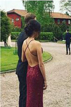Backless Beading Real Made Prom Dresses,Long Evening Dresses,Prom Dresses On Sale,L72